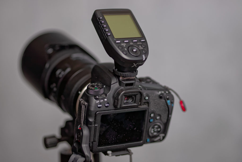 godox transmitter on Canon 77D