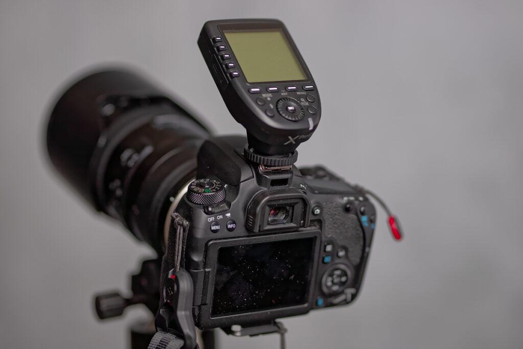 godox transmitter on Canon 77D