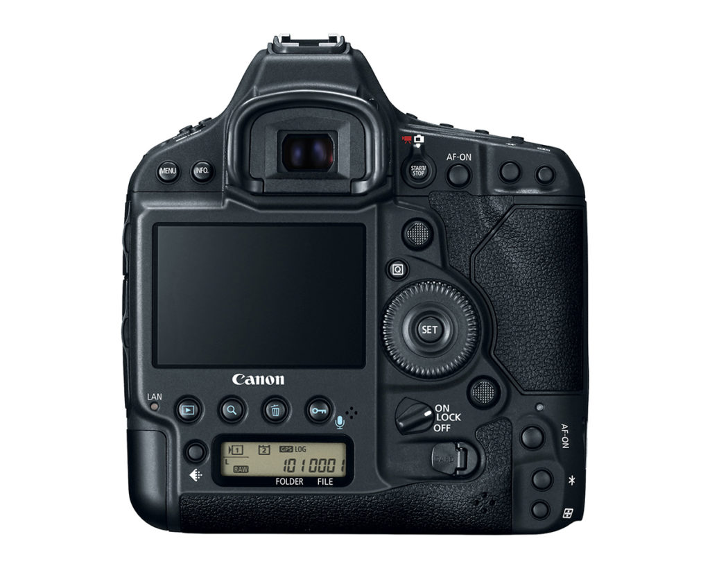 Rear view of EOS 1Dx Mark II