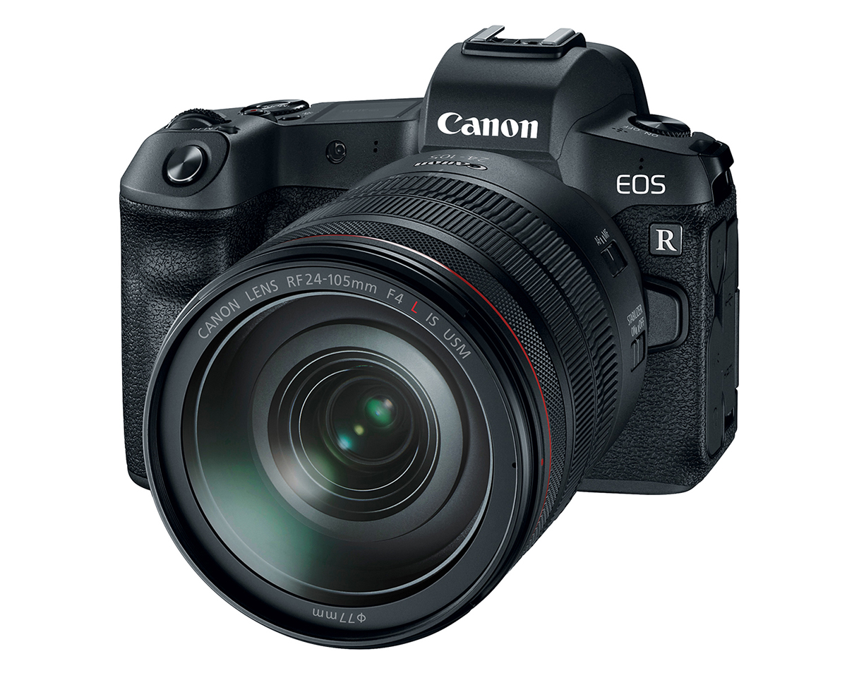 Front View of Canon EOS R with Canon RF 24-205mm L