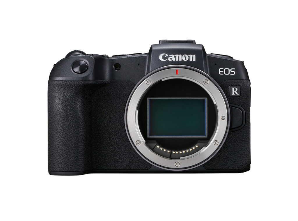 Front View of Canon EOS RP with no lens