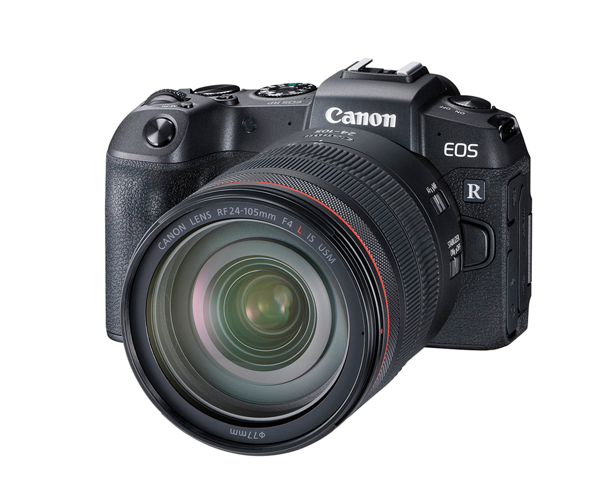 Front View of Canon EOS RP with Canon RF 24-105mm L